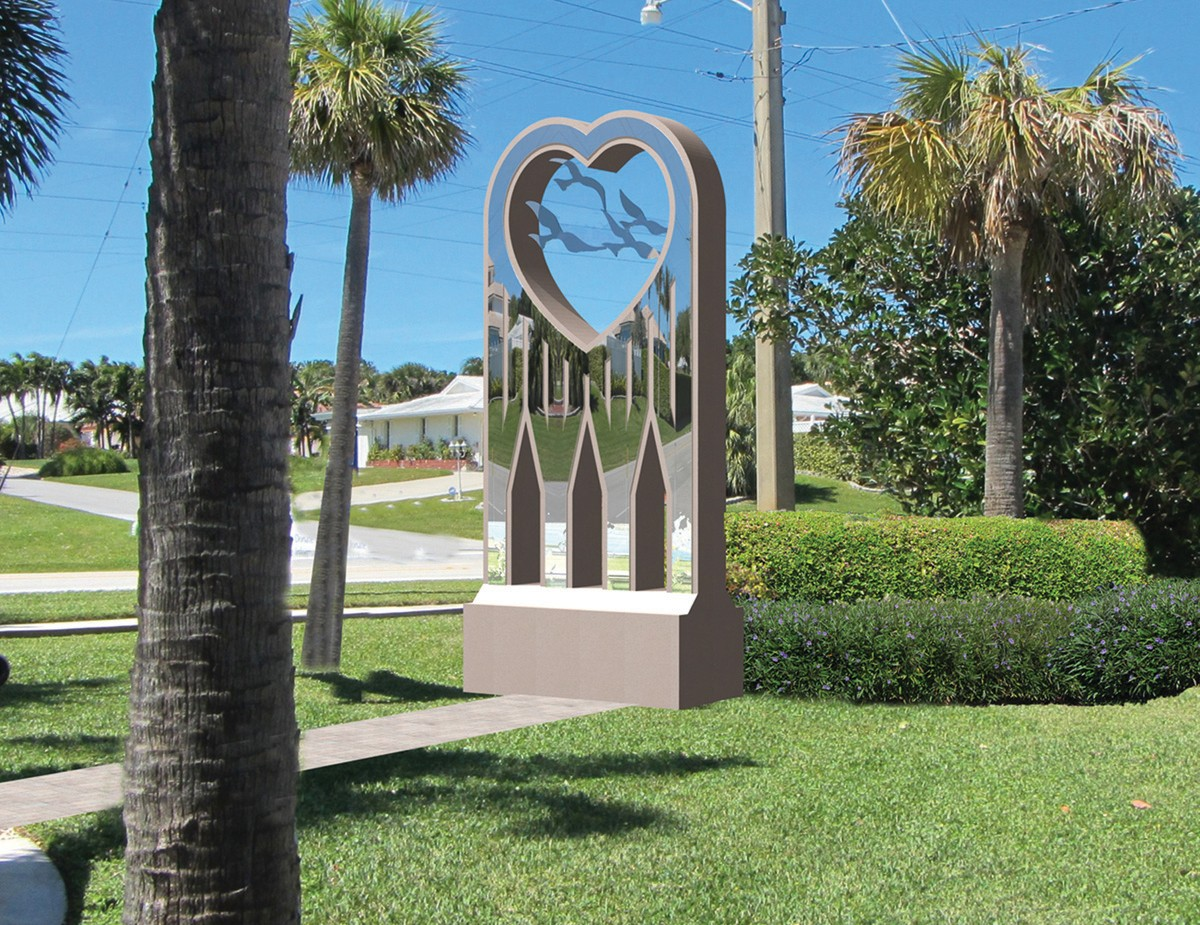Juno Beach chooses design with hearts to remember 9/11 | Palm Beach ...