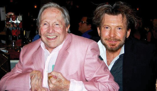 Above: The late artist Robert Rauschenberg, left, is pictured with his close friend Darryl Pottorf at a 2007 Arts for ACT auction in Fort Myers